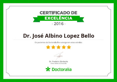 Dr. José Albino - Certificado de Excelência Dcotoralia